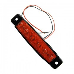 24V Red Rear light with 6 LED