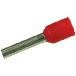 Embout de câblage 1mm2 rouge