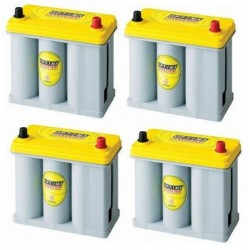 Set of 4 OPTIMA YELLOW 12V...