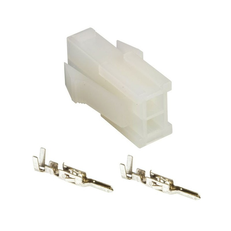 2 Pin Female Molex Connector: MOLEX Female 2 Pin Connector With 2 Male Contacts
