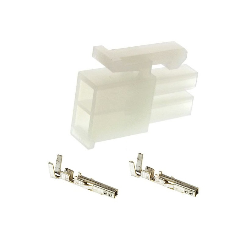 2 Pin Female Molex Connector: MOLEX Male 2 Pin Connector With 2 Female Contacts