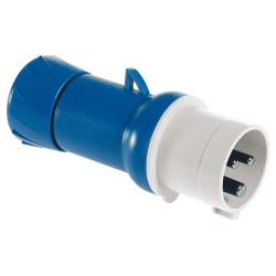 Blue male mobile plug 16A...