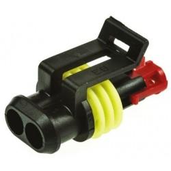80x amp-0-0281934-2 aderdichtung Superseal 1.5 amarillo øleitg 1,8-2,4mm 281934-2