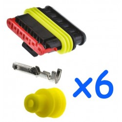 6 way male connector kit...