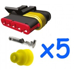 5 way male connector kit...