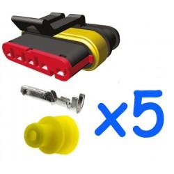 Kit connecteur mâle 5...