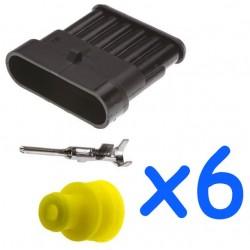 Kit connecteur femelle 6...