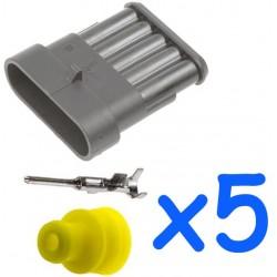 Kit connecteur femelle 5...