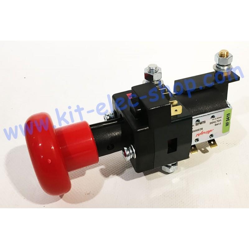 Combiné Sd200 48v 200a Contacteur 48vco Et Arrêt Durgence Avec Porte Fusible