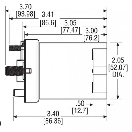 Contactor LEV200 500A 900V coil 24VDC direct current sealed