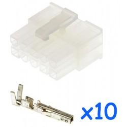 Connecteur MOLEX mâle 10...