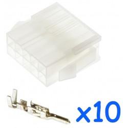 Connecteur MOLEX femelle 10...