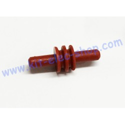 Dark red cable cavity plug...