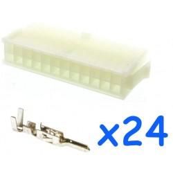 Connecteur MOLEX femelle 24...