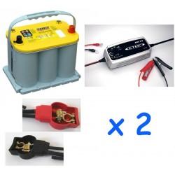 Lot de 2 batteries OPTIMA...