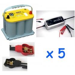 Lot de 5 batteries OPTIMA...