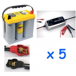 Lot de 5 batteries OPTIMA...