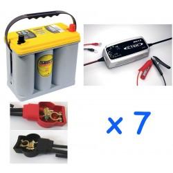 Lot de 7 batteries OPTIMA...