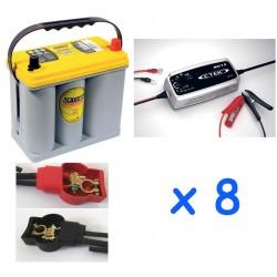 Lot de 8 batteries OPTIMA...