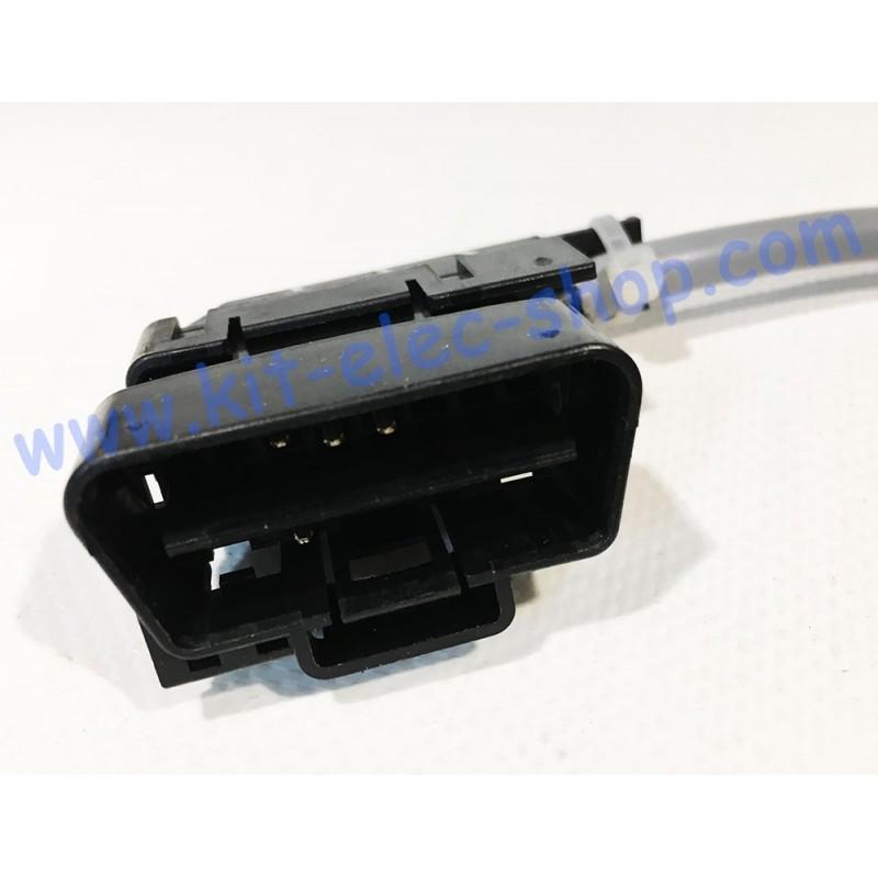 Kit Connecteur Obd2 Mâle Avec 16 Broches Mâle à Sertir