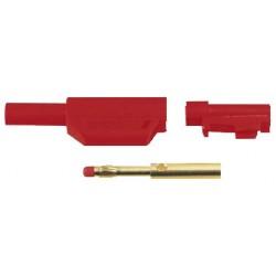 Banana Plug Male Red Professional 4mm Flexible Connector wheel screw