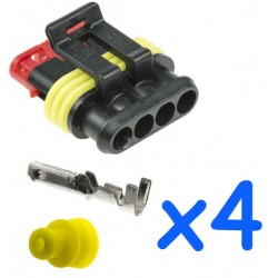 4 way male connector kit...