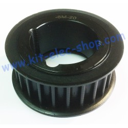 Poulie HTD 20mm 22 dents...