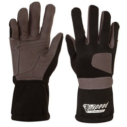 Black karting gloves T08