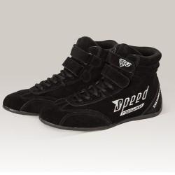 Pair of boots black karting...