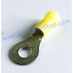 Yellow 6mm ring crimp...