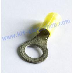 Yellow 8mm ring crimp...
