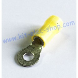 Yellow 4mm ring crimp...
