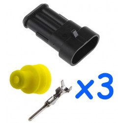 3 way female connector kit...