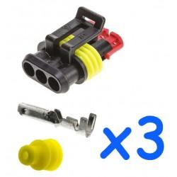 Kit connecteur mâle 3...