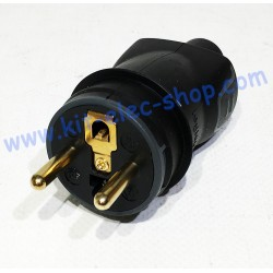 Male plug 230V 2P+T Legrand...