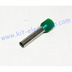 Cable end 6mm2 green long size