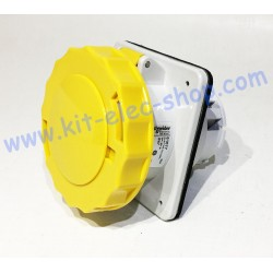 Female socket 63A PK yellow...