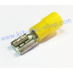 Yellow female 6.3mm FASTON...