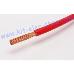 Câble souple 6mm2 rouge le...