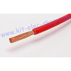 Red flexible 6mm2 cable per...