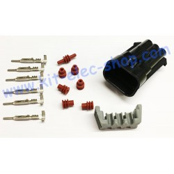 6-pin male DELPHI socket kit