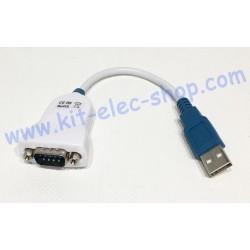 Adaptateur USB RS232 DB9...