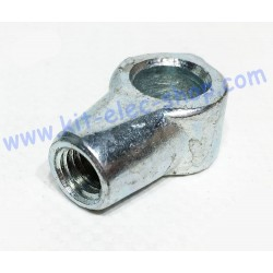 Eye nut M8x14 zinc bore 10mm