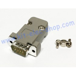 DB9 male socket with cover