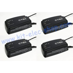 Kit of 4 chargers 12V 25A...