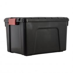 Black plastic case 60l with...