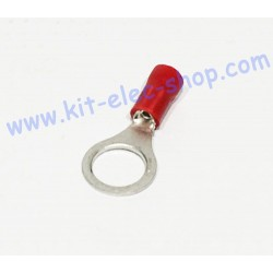 Red 8mm ring crimp terminal...