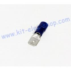 Cosse FASTON 6.3mm bleue mâle