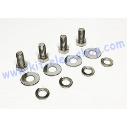 Pack of 1/2 inch stainless...