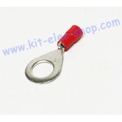 Red 6mm ring crimp terminal...